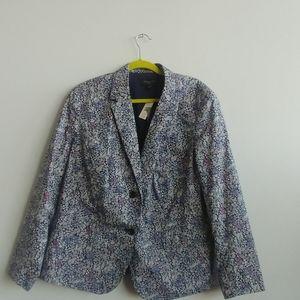 Talbot's women floral blazer 18 nwt